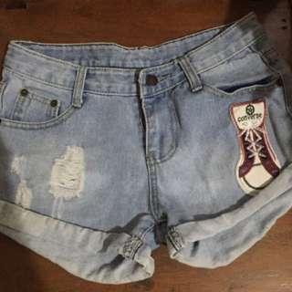SALE ❣️Sneaker Patch Denim Shorts