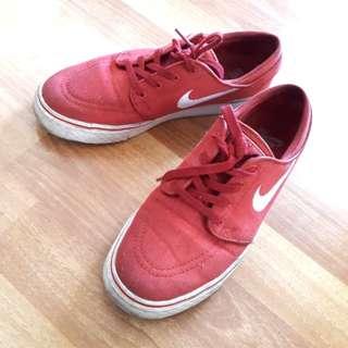 Original Nike Red Skateboard SB Stefan Janoski Zoom Air Shoes