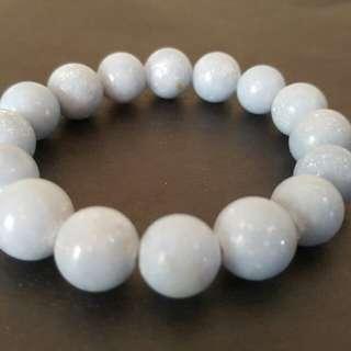 Angelite Crystal. Bracelet