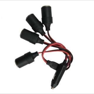 4-Socket Cigarette Lighter Car Charger 5A Power Charger Adapter 1 to 4 Way Socket Splitter Female Socket Plug Connector Adapter