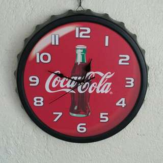 Coca Cola Metal Wall Clock
