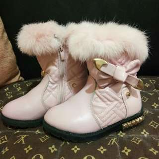 Baby pink shoes/ boots for little girls