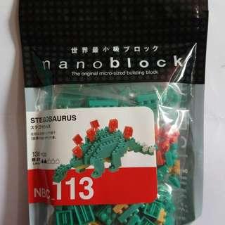 Nanoblock NBC_113 Stegosaurus 劍龍