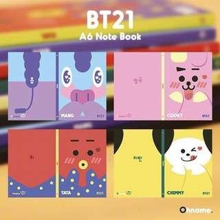 BT21 x BTS Notebook