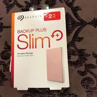 Brand New Seagate Backup Plus Slim 2TB (sealed)