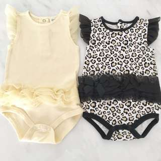 Preloved baby girl frilly rompers (3 to 6 months)