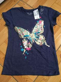 The Place gold butterfly tee bnew