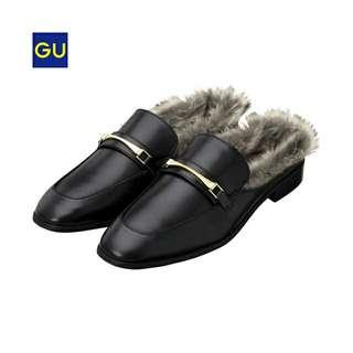 Gu毛拖鞋穆勒鞋
