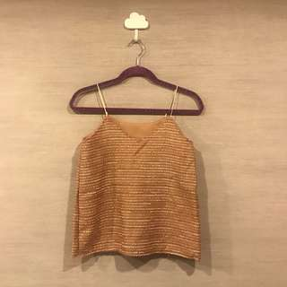 Nude (w/ shimmer) Sleeveless Top