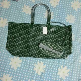 BNWT Large leather Goyard tote sling shoulder bag