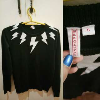 Penshoppe knitted black longsleeves