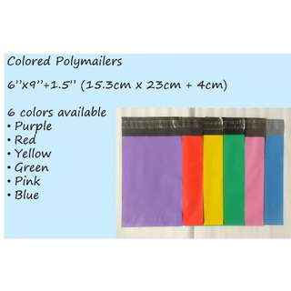 Small Poly Mailer Bags in Various Colors
