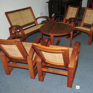 Authentic Burma Teak Wood Sette Set