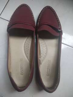 Flat shoes maroon