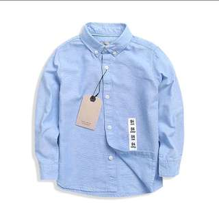 經典藍色襯衫