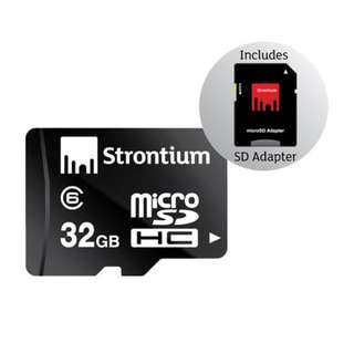 STRONTIUM MICROSDHC CLASS 6 32GB WITH ADAPTER