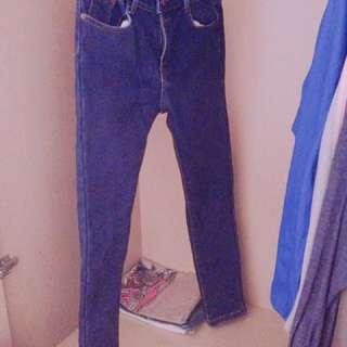 鋪棉牛仔褲