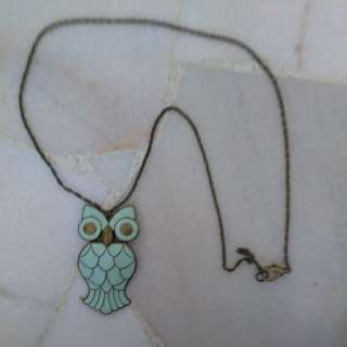 Owl metal necklace