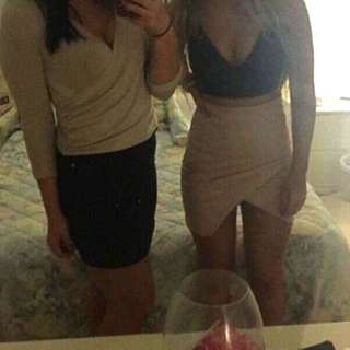Mini Skirt (right side of photo) Size 10