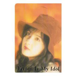 X-61,NO.QW7009,YES CARD,周慧敏彩照下有金字-VIVIAN IS MY IDOL ,背面-VIVIAN 小檔案 ,全購系列-原價6折