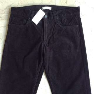 UNIQLO Black Corduroy Pants for Men