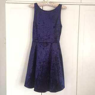 [Free Postage] Blue Suede H&M Dress