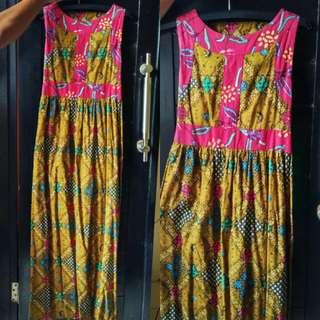 batik long dres