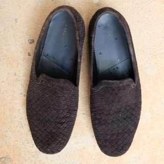 Sepatu Loafer Pria Model Anyaman Merek Zara Size 42