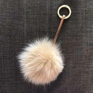 Fox Fur Bag Charm (small)