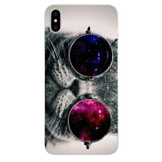 Cat With Glass iPhone X Case iPhone 8 7 6 Plus Case Funny
