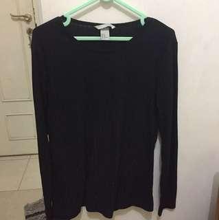 H&M stripe black sweatshirt