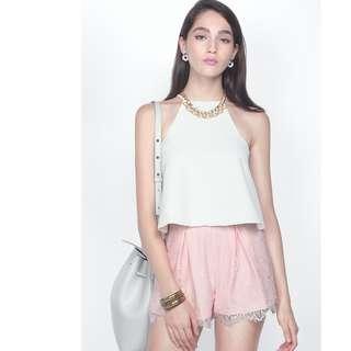 Fayth Fleur Lace Shorts in Blush
