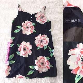 NLW black floral loose dress