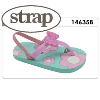 Strap - Kids Sandals / Slippers -  Ribbon (Blue or Pink Insole)