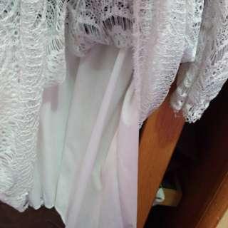 🚚 假兩件蕾絲洋裝