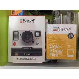 寶麗來 Polaroid  OneStep2 拍立得 白色 含18張彩色底片