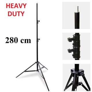 PXEL LS280CMS 280cm 9Ft Heavy Duty Spring Cushioned Light Stand