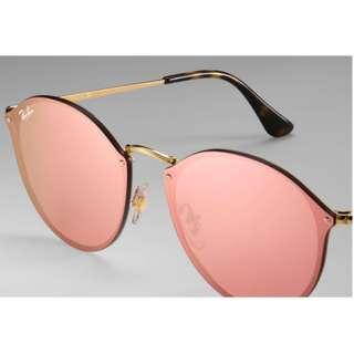 [新年限時優惠][平過開倉] Ray-Ban Blaze Pink Lenses 粉紅水銀鏡 Unisex 男女偕可 Sunglasses Rayban