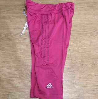 Adidas Dri-Fit Capri Tights - Pink (Large)