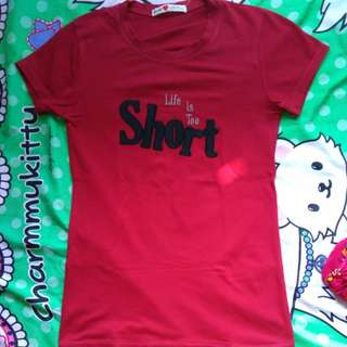 "Kaos Belle "" life is too short"""