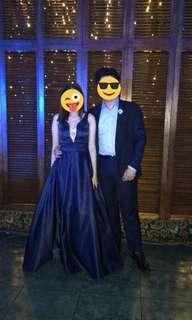 midnight blue prom dress for rent
