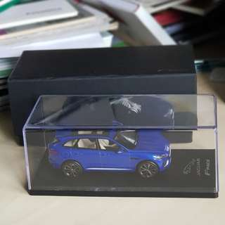 jaguar jag fpace f-pace 1:43 scale model miniature caesium blue truescale TSMModel TSM collectible 1/43 suv car diecast die-cast