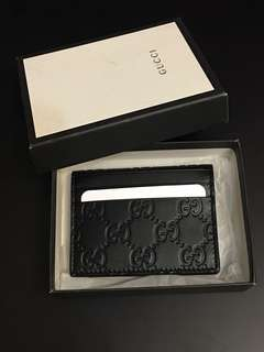 Gucci Leather Card Holder / Wallet