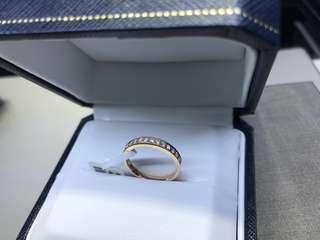 25pt. 18k rose gold diamond ring