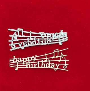 Happy birthday music scrapbooking Cutting Die