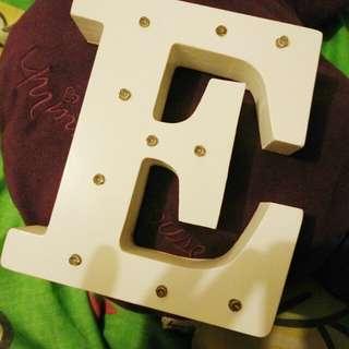 Letter E room lamp