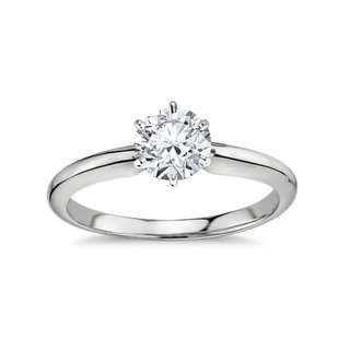 Perfect Half Carat Solitaire Diamond Ring