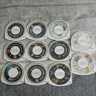 原裝正版PSP遊戲碟UMD@30每隻30(包平郵)