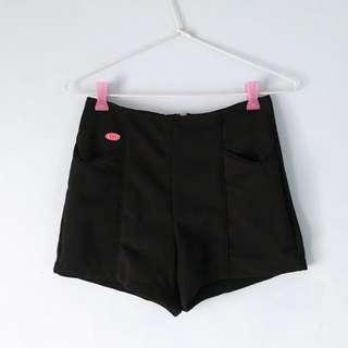 [Repriced] Black High-Waist Shorts