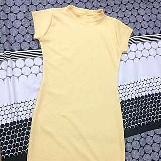 Yellow Semi-turtleneck Dress (reserved)